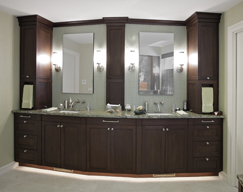 The master bath features a fully appointed double vanity for Master bathroom double vanity
